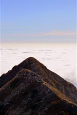 Italy, Carrega Ligure, mountain, clouds
