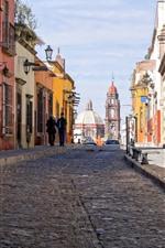 미리보기 iPhone 배경 화면 멕시코, 도시, 건물, 거리