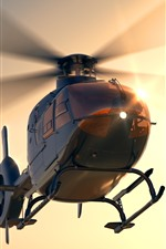 Preview iPhone wallpaper Multi-purpose helicopter, dawn, sunshine