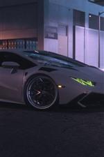 Necessidade de retorno de velocidade, branco Lamborghini supercarro