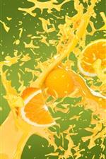 Oranges, juice splash, creative picture