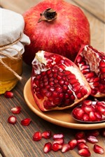 Preview iPhone wallpaper Pomegranate, honey