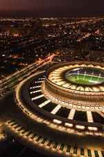 Preview iPhone wallpaper Russia, Krasnodar, stadium, top view, city, night