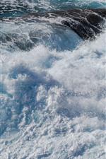 Sea waves, splash, foam