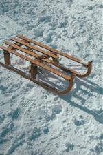 Snow, sled, winter