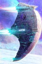 Spaceship, stars, space, sci-fi design