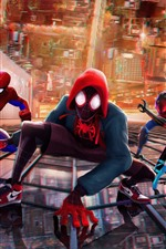 Preview iPhone wallpaper Spider-Man: Into the Spider-Verse, DC Comics movie