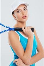 Preview iPhone wallpaper Sport girl, tennis