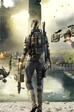 Preview iPhone wallpaper The Division 2, city, soldiers, PC game