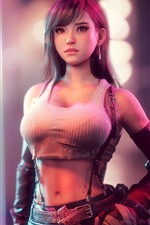 Preview iPhone wallpaper Tifa Lockhart, beautiful girl, Final Fantasy