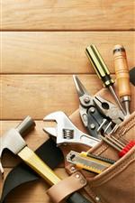 Tools bag, wood board