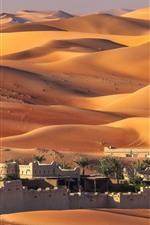 Preview iPhone wallpaper UAE, Abu Dhabi, houses, desert