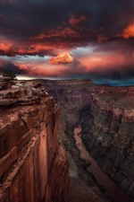 Preview iPhone wallpaper USA, canyon, valley, river, sunset