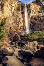 Preview iPhone wallpaper Waterfall, rocks, height