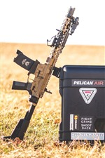Preview iPhone wallpaper AR15 assault rifle, box, grass