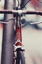 Bicicleta, rua, nebulosa