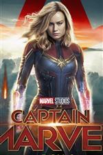 Preview iPhone wallpaper Captain Marvel, Brie Larson