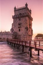 Castle, river, bridge