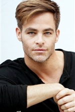 Preview iPhone wallpaper Chris Pine, actor