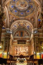 Preview iPhone wallpaper Church, Rome, Italy, hall