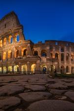 Preview iPhone wallpaper Colosseum, Rome, night, lights