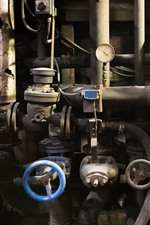 Preview iPhone wallpaper Factory, pipes, valve, dirt, rust