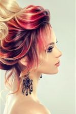 Preview iPhone wallpaper Fashion girl, hairstyle, colors