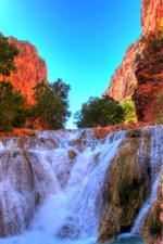 Preview iPhone wallpaper Grand Canyon National Park, rocks, waterfall, USA