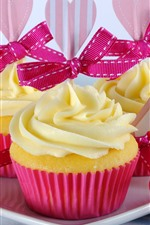 Preview iPhone wallpaper Happy Mothers Day, cupcakes, carnation