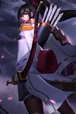 Preview iPhone wallpaper Heroes of Newerth, archer, girl, night
