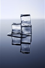 Preview iPhone wallpaper Ice cubes, reflection