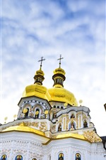 Kiev Pechersk Lavra, Ukraine, dome, sky, clouds