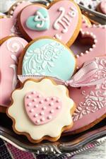 Love heart cookies, food