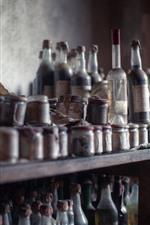 iPhone обои Многие бутылки, пыль