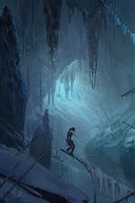 Preview iPhone wallpaper Rise of the Tomb Raider, ship, snow, winter