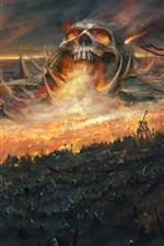 Preview iPhone wallpaper Skull, war, warrior, art picture