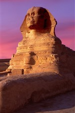 Sphinx, Egypt, dusk