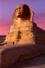 Preview iPhone wallpaper Sphinx, Egypt, dusk