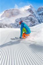 미리보기 iPhone 배경 화면 스포츠, 스키, 눈, 산, 겨울