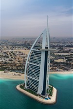 Preview iPhone wallpaper UAE, Dubai, hotel, city, coast, yachts
