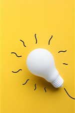 Preview iPhone wallpaper White bulb, yellow background