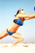 Preview iPhone wallpaper Beach volleyball, athlete, girl