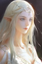 Beautiful fantasy girl, elf, art picture