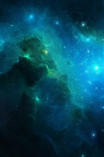 Preview iPhone wallpaper Beautiful universe, galaxy, stars, light
