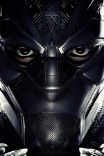 Preview iPhone wallpaper Black Panther, mask, superhero