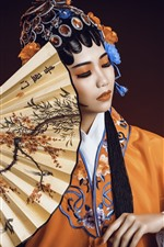 Preview iPhone wallpaper Chinese girl, Peking Opera Dress Up, culture