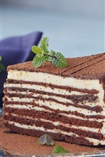 Preview iPhone wallpaper Chocolate cake, layers