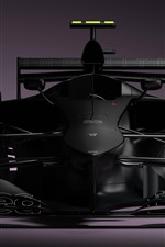 Preview iPhone wallpaper Formula 1 race car, black, front view