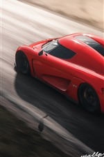 Preview iPhone wallpaper Forza Horizon 4, red Koenigsegg supercar speed