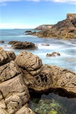 Preview iPhone wallpaper France, Brittany, rocks, sea